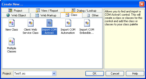 Visual DataFlex Import COM ActiveX