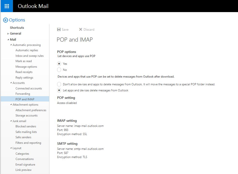 Python Test HotMail POP3 (pop3 live com or pop-mail outlook com)